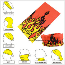 Customized Design Printed Polyester Multifunctional Magic Tube Buff Bandana