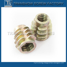 Furniture Hardware Color Zinc Plated Zinc Alloy Insert Nut