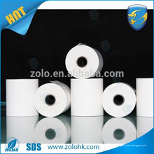 Caixa de dinheiro eletrônico rolo de papel cereal barato 80gsm papel térmico em branco com número de série