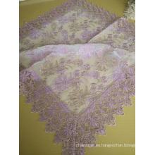 Mantel de tela de encaje de color rosa St16-22
