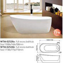 Baignoire en acrylique ovale de trempage (WTM-02526)