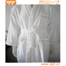 Robes Outono Inverno Mulheres Casa Coral Fleece Pyjama Confortável Cor Sólida Logotipo Da Marca Bordado Roupão de banho