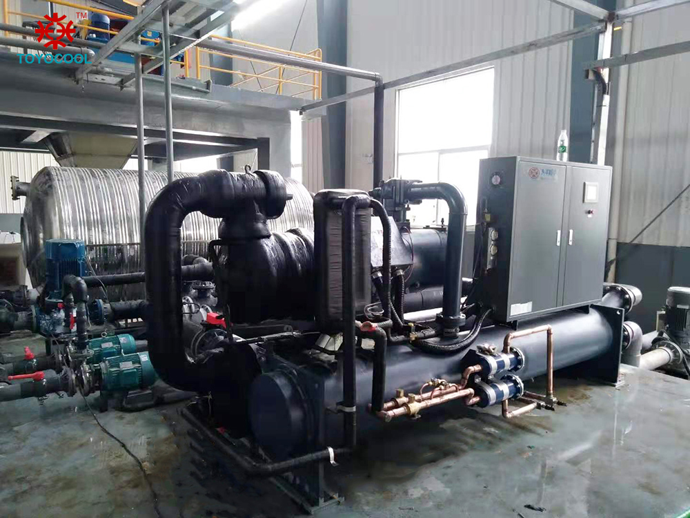 high efficiency screw style water cooled chiller