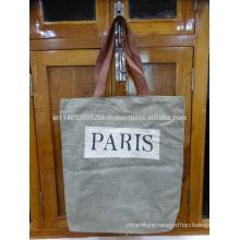 Paris Print Canvas Bag