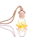 Blumenform-Autoparfüm-Diffusorflasche des kundenspezifischen Entwurfs 6ml mit einer hölzernen Kappe