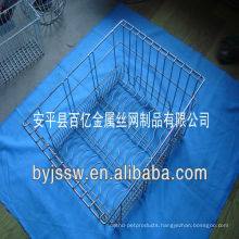 Metal basket used for kitchen