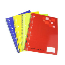 Matériel de papier journal en spirale à quatre couleurs pour les écoles et l'utilisation du bureau