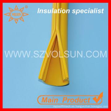 Manga del cable del encogimiento de calor de la goma de silicona resistente a altas temperaturas