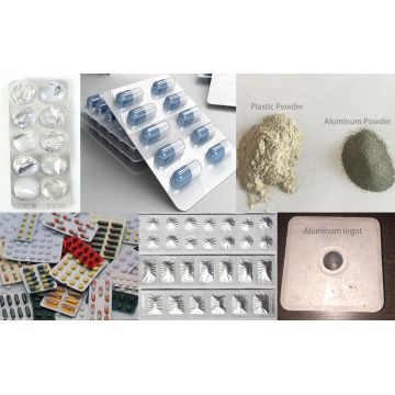 Equipamento de tratamento de reciclagem de plástico de alumínio médico
