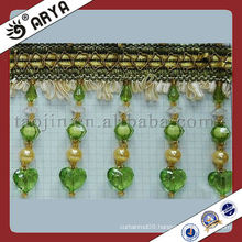 Green Beaded Curtain Trimming,Tassel Trim Fringe hot in 2013