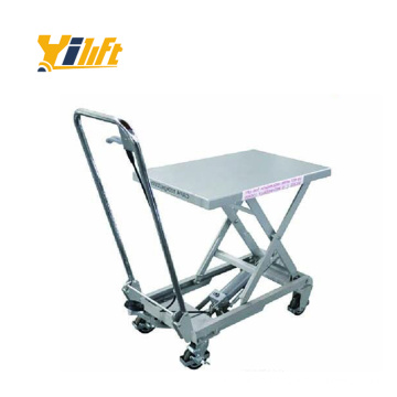 China factory 100kg hand type aluminum lift table