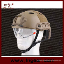 Equipamento táctico Pj capacete de combate militar capacete com viseira clara