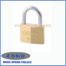 Heißer Verkauf Messing lackiert / Silber lackiert Rhombic Typ Eisen Vorhängeschloss