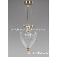 Modern Clear Blown Glass Pendant Light Lamp