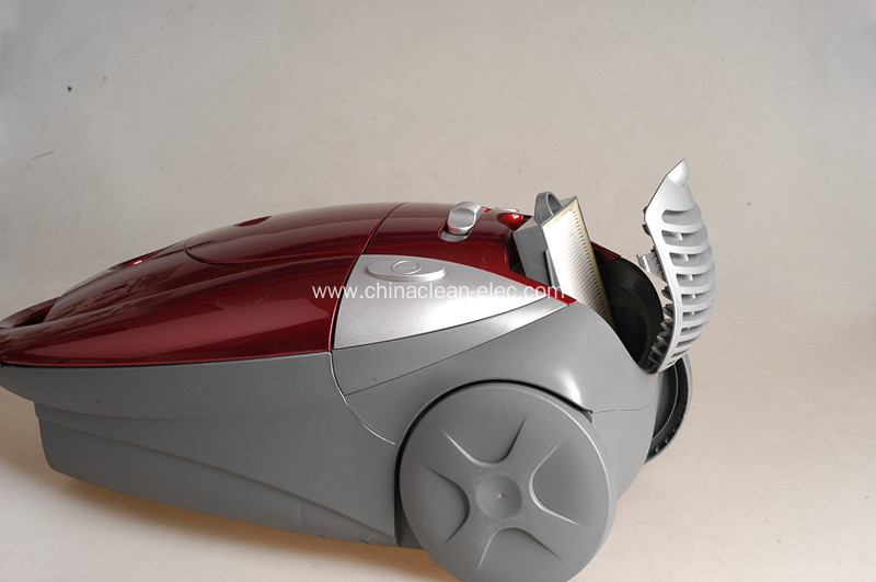 red-gray speed control vacuum cleaner
