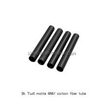 Tubes pleins de fibre de carbone de 3K ou Rods pour les tubes Exhanst de fibre de carbone adaptés aux besoins du client