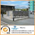 1.5mX1mX1m galvanized Gabion Galfan 3mm stone box apartmant block perimeter with uplit Gabion basket wall