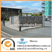 1.5mX1mX1m galvanized Gabion Galfan 3mm stone box apartmant block perimeter with uplit Gabion basket wall