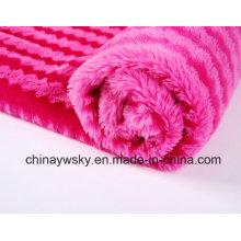 100% Polyester Stoff / PV Plüsch Fleece / Print PV Plüsch / Tiger Streifen