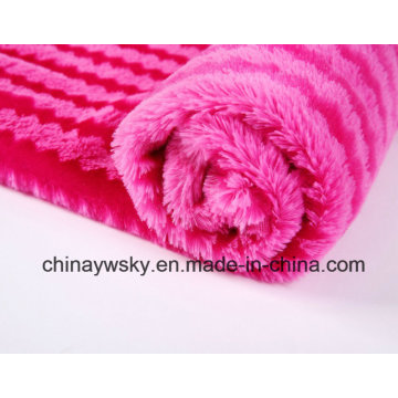 100% Polyester Fabric/PV Plush Fleece /Printd PV Plush/ Tiger Stripes