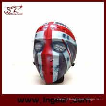 Máscara de cara cheia hóquei tipo Airsoft malha Goggle
