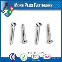 Fabriqué à Taiwan Steel en acier inoxydable Flat Head POZI Drive Zinc Passivated M10 Self Tapping Bolt