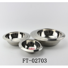 Stainless Steel Thick Round Basin (FT-02703)