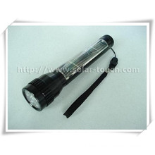 Aluminum Alloy Electroplating Solar Flashlight-STH001