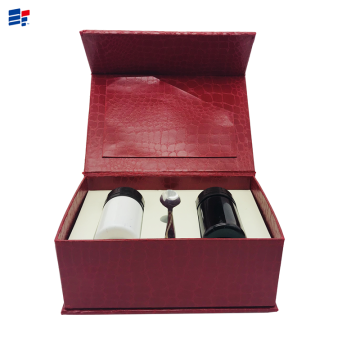 Leather cosmetic gift paper box