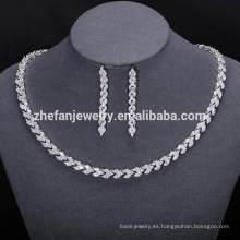 Nueva joyería africana de la manera fija la joyería cubana de la zirconia del dubai para las mujeres