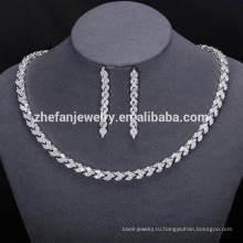 новая мода африканских ювелирные изделия устанавливает Дубай кубический цирконий ювелирных изделий для женщин