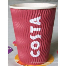 Ripple taza de papel para la bebida caliente de café caliente