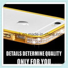 Cas de téléphone portable de diamant de Bling pour l'iPhone6 Plus 5.5 cas de pare-chocs