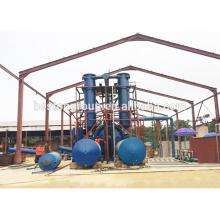 China pirólise 10 T / D resíduos de pneus de plástico para a planta de óleo