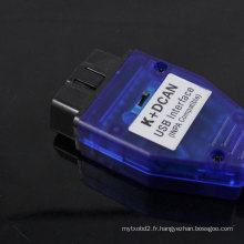 Commuté pour BMW USB - OBD K + Dcan Diagnostic câble