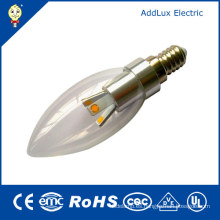 3W E14 Clear Cover SMD LED Candle Bulb