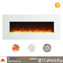 "50"" white master flame wall mounted electric fireplace heater for decoration"