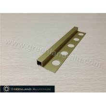 Matt Gold Alumínio Quadrado Schluter Strip 8mm Altura