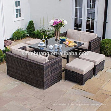 Garden wicker sofa outdoor rattan furniture rattan sofa ottoman