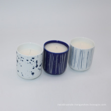 customizable logo and design paraffin/soy wax scented candle in ceramic cup