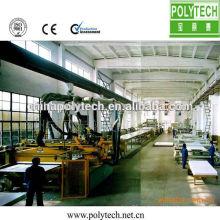 2014 mayor calidad construcción encofrado cadena de producción/8 ~ 25mm grueso PE encofrado de construcción plástica que hace la máquina