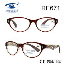 Léger modèle de qualité supérieure dans les verres de lecture du temple (RE671)