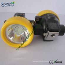 Bergbau-Kappe 3000mAh LED, Kappen-Lampe