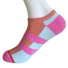 Half Cushion Poly Fashion No Show Color Block Socks (JMPN01)