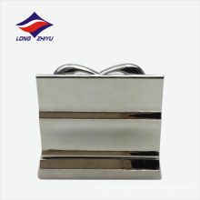 3D heart-shape stainless steel business card holder