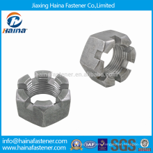High Quality Stainless Steel Metric Coarse Castle Nuts With DIN935
