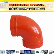 UL FM Approved Ductile Cast Iron 90 Grooved Elbow