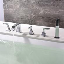 HIDEEP Voller Kupfer Chrom Badezimmer Badewanne Wasserhahn