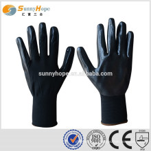 13gauge black safety work gloves