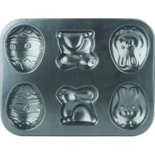 Антипригарное выпечки сковороду выпечки формы булочки кастрюли Hallowmas 6 полости